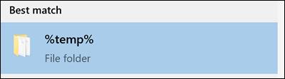 """Suchen nach dem Ordner """"temp"""" in Windows"""