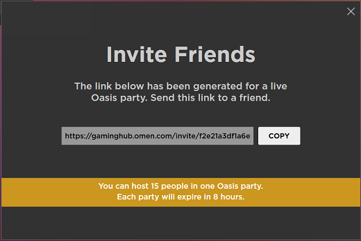 Copie el enlace de invitación