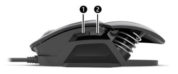 マクロ機能を起動するためにマウスの側面にある2つのボタンを押す