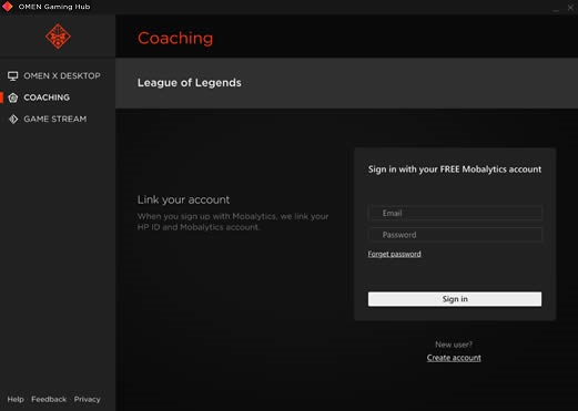 Mobalyticsアカウントへのログイン