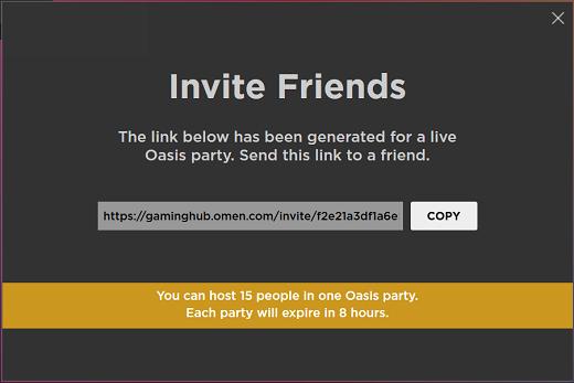 Copie o link do convite