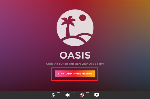 Натискання кнопки START AND INVITE FRIENDS (СТВОРИТИ ТА ЗАПРОСИТИ ДРУЗІВ)