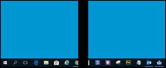 Un ejemplo de una pantalla LCD con una línea vertical negra