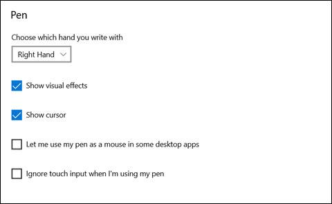 Ventana de configuración del lápiz