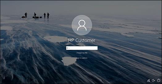 BIOS 更新成功后,将显示锁定屏幕。