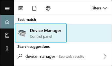 Click Device Manager in the search results