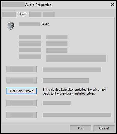 An example of setting the default audio playback device