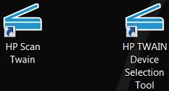 HP Scan Twain icons