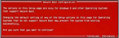 Secure Boot Configuration (Konfiguration mit sicherem Systemstart)