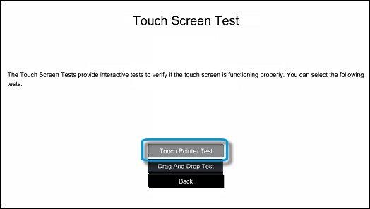 Тест касания точек в UEFI