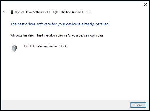 Windows עדכנה בהצלחה את תוכנת מנהל ההתקן