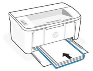 Loading the paper into the input tray