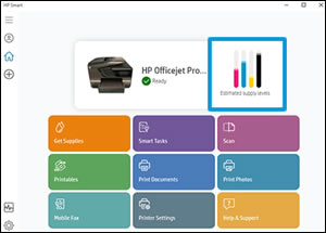 Додаток HP Smart із рівнем чорнила