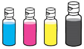Tintenflaschen
