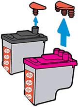 Отсоединение заглушки от печатающей головки