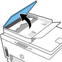 掀開文件進紙器護蓋