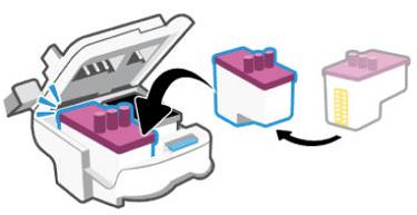 Inserción del cabezal de impresión nuevo