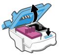 Открытие крышки печатающей головки