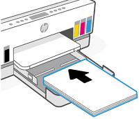 Loading paper into the input tray