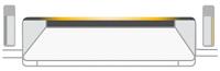 Amber light on the status bar