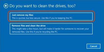 Nur meine Dateien entfernen