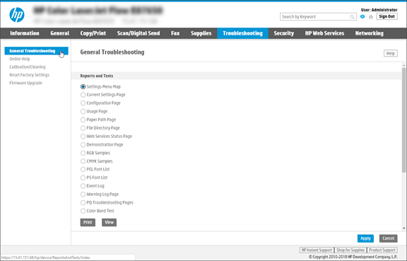 General Troubleshooting page