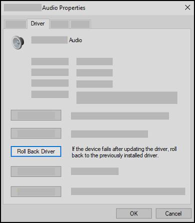 Exemple de choix du périphérique de lecture audio par défaut
