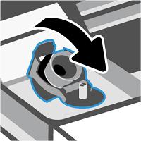 Zavření víka zásobníku inkoustu