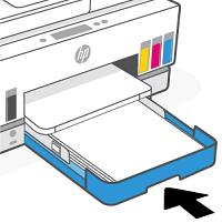 Closing the input tray