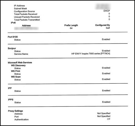 Exemple de deuxième page du rapport de résultats du test de réseau Wi-Fi