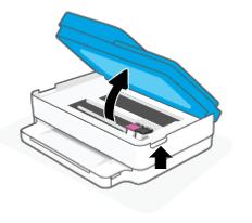 Lifting the ink cartridge access door