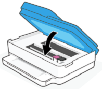 Lowering the ink access door