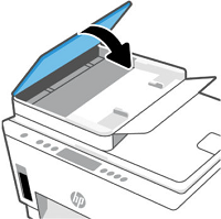 Closing the document feeder cover