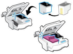 Inserción de los cabezales de impresión