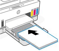 Carga de papel en la bandeja de entrada