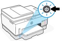 Turning on the printer