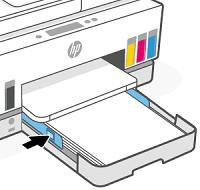 Paperin leveysohjainten siirtäminen sisäänpäin