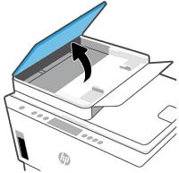 Automaattisen asiakirjansyöttölaitteen kannen nostaminen