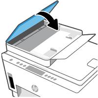 Automaattisen asiakirjansyöttölaitteen kannen sulkeminen