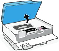 Lifting the cartridge access door