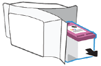 Removing the new ink cartridge from its package