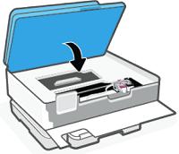 Lowering the cartridge access door