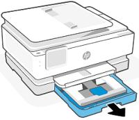 Opening the main tray