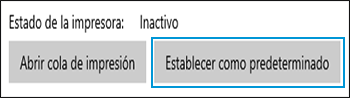 Cómo establecer la impresora seleccionada como predeterminada en Windows