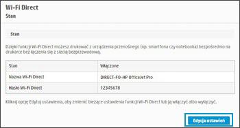 Kliknięcie lub dotknięcie opcji Edytuj ustawienia