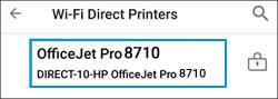 Selección de su impresora en la lista