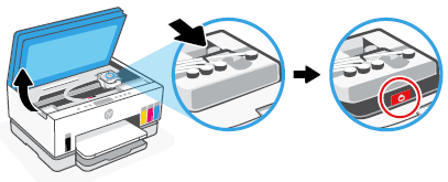 Disconnecting the ink tubes