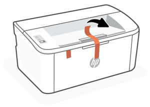 Retirar la cinta de embalaje de la parte exterior de la impresora