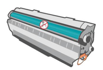 Non toccare la superficie del tamburo fotosensibile sulla cartuccia