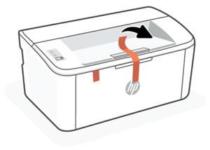 Снятие упаковочной ленты с внешней поверхности корпуса принтера